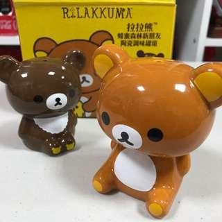 🚚 拉拉熊*茶小熊🐻陶瓷調味罐組