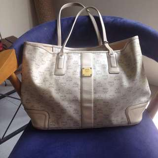 MCM Neverfull Bag in White