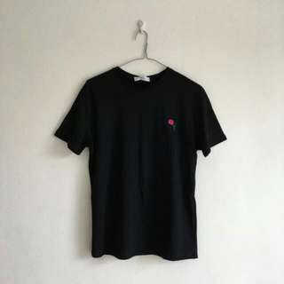 Rose Embroided Short Sleeve T-shirt BNWT