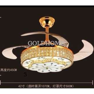 42'' Ceiling Fan with 3 color LED Light including Remote