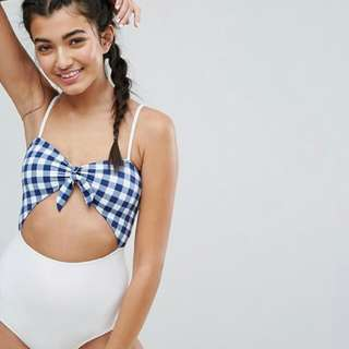 NEW One piece bathing suit in Gingham Print