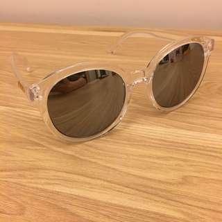 透明反光太陽眼鏡 9成新