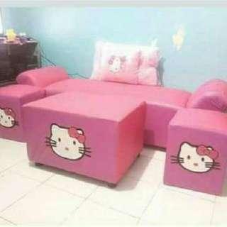 Pink Hello Kitty Cleopatra Sofa/Sala Set