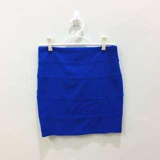 Penshoppe Royal Blue Bandage Skirt