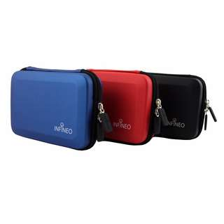 INFINEO Hard Disk Case, Protect Carry Pouch Bag - Blue