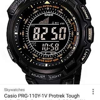 Casio PROTREK PRG-110Y 越野行山氣壓手錶