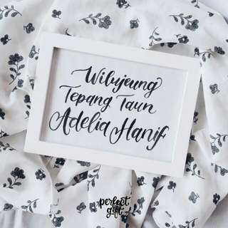 Hand Lettering Home Decor
