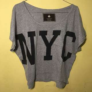 NYC Grey Crop Top
