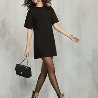 The Reformation Black Tshirt Dress
