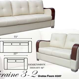 Ukraine 3-2 (0207) Uratex Foam Sofa Set Sala Set