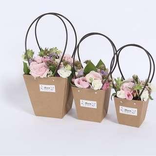 Trapezoidal Kraft flowers bag