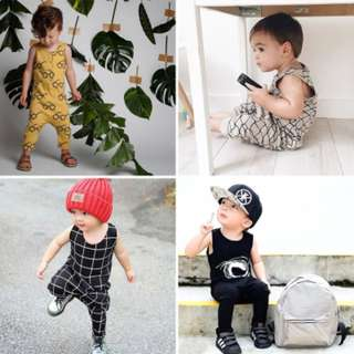 ✔️STOCK - STYLISH SLEEVELESS UNISEX BABY TODDLER BOY/GIRL CASUAL PJ ROMPER KIDS CHILDREN CLOTHING