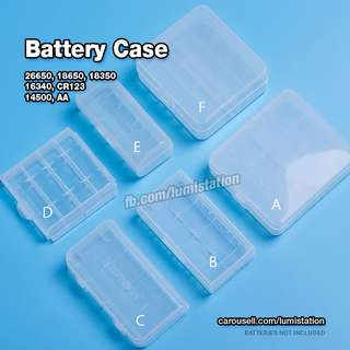 LUMISTATION Battery Case for 26650, 18650, 18350, 16340, CR123, 14500 and AA