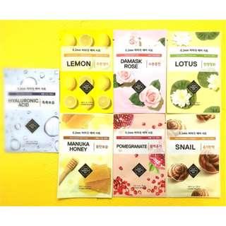 ETUDE HOUSE 面膜 - 天天敷~0.2 肌蜜面膜-玻尿酸、檸檬、蜂蜜、蝸牛、玫瑰、石榴、蓮花