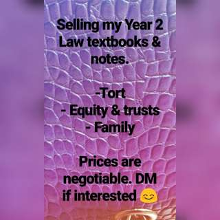 Year 2 Law Textbooks & Notes.