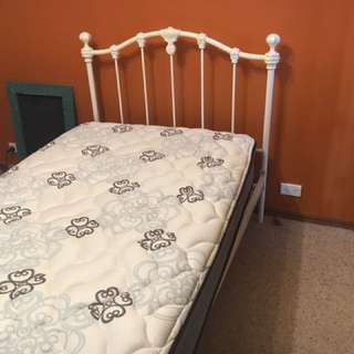 Wrought iron Bed And Mattress