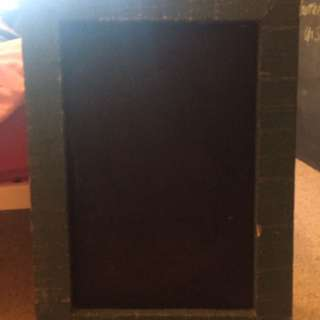 Teal Framed Chalk Board