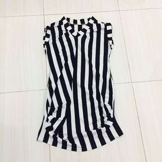 Dress stripe / dress murah / stripe dress / baju stripe