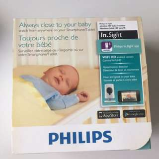 Philip in.sight wireless HD baby monitor