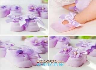 小市民倉庫-寶寶蕾絲.花朵.蝴蝶結.網眼襪-鏤空透氣襪-純棉船襪-地板襪-點膠防滑襪-嬰兒襪-無骨襪-3入裝-6色發售