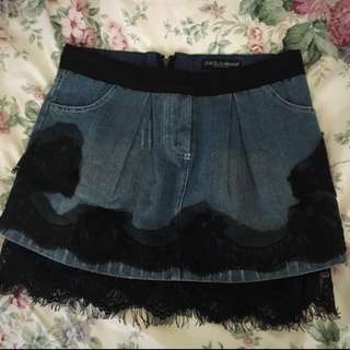 Dolce and Gabbana Denim Skirt