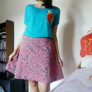 Pink Grey Skirt