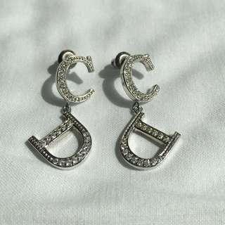 Christian Dior Sliver Earrings
