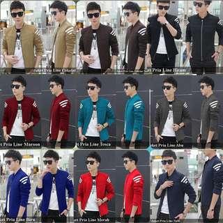 jaket pria terlaris murah terlengkap 9 warna-jaket cowok keren berkualitas-jaket pria line