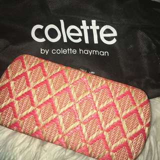 Collette Pink and Orange Clutch