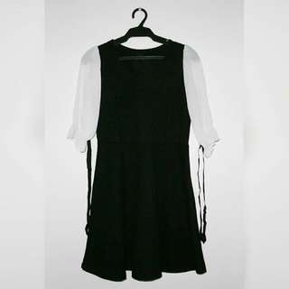 Dainty Black and White Dress