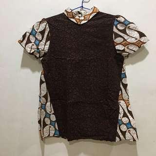 NEW Brown Batik Top :)