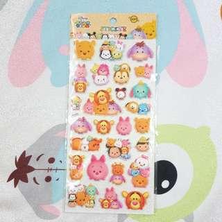 BNIP Pooh And Friends Tsum Tsum Stickers