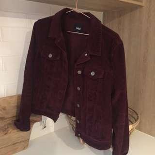Vintage Cord Sportsgirl Jacket - Wine Colour