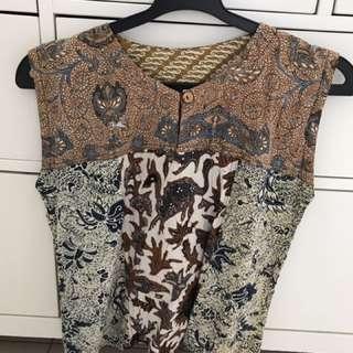 classic batik top no brand