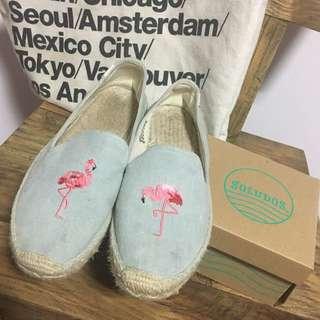 Soludos Flamingo 紅鶴 草編鞋
