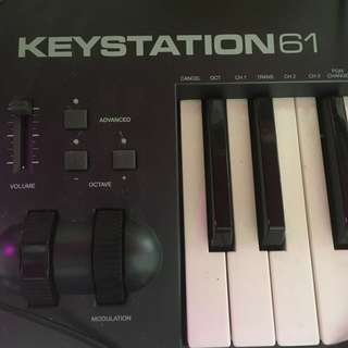 Fast Trade M Audio Keystation 61 Keys Midi Controller 連 Pedal