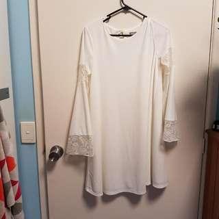 Boohoo White Dress Size 10