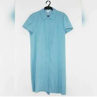 [REPRICED] Light Blue Button Down Dress