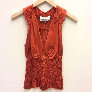 YSL orange brown vest size S