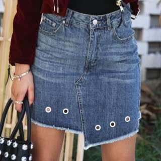 Denim Skirt Cut