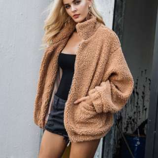 oversized wool jacket