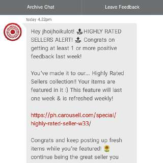 Yey!!! 2nd Time Highly Rated Seller!!