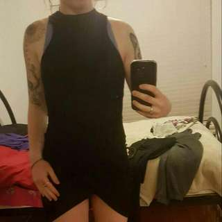 Alley Fashion Black Criss X Dress