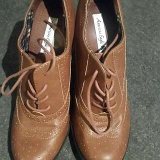 Brown Boots With Heels Size 9