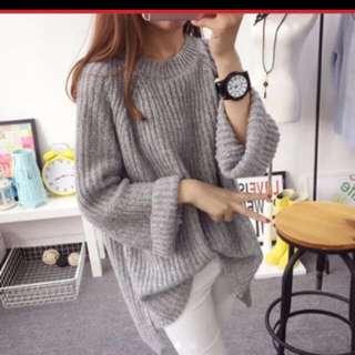Grey Oversize Sweater
