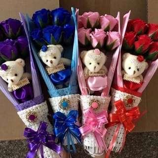 Wax Flowers 5 in 1 set