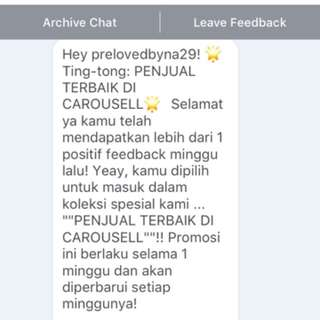 Yeay lagi, thanks carousell