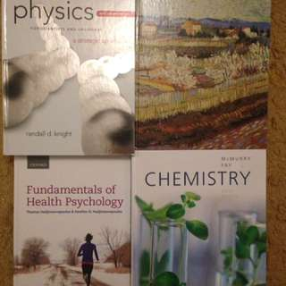 Science Textbooks (pcs120, Pcs130, Chy103, Chy113, Blg230, Psy605)