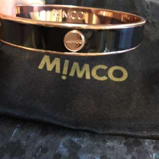 Mimco Rose Gold And Black Bangle