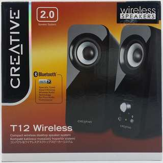 Creative T12 Wireless Bluetooth Speakers (Sealed with Local Warranty)